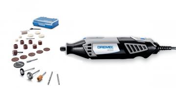 Kit Micro Retifica Dremel 4000 C/26 acessórios 175W
