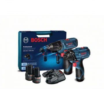 Combo Parafusadeira GSR 120-Li + Chave Impacto GDR 120-Li A Bateria 12V Bivolt Bosch