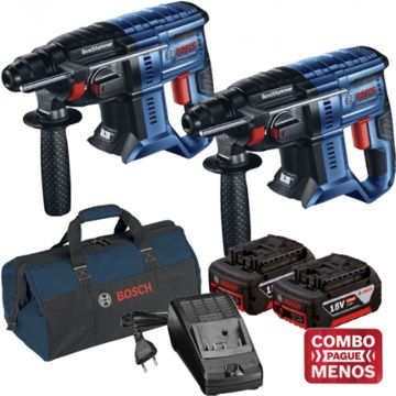 Combo 2 Marteletes + Kit Baterias + Bolsa - Bosch