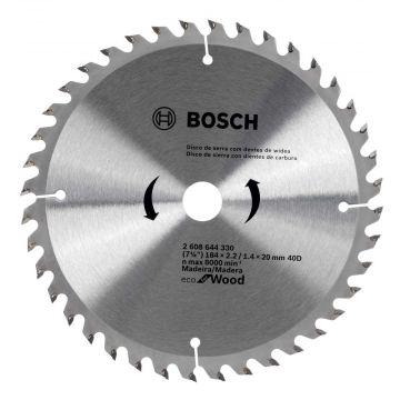 """Disco de Serra Circular 184MM - 7.1/4"""" -  40 Dentes - Bosch"""