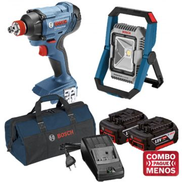 Combo Chave De Impacto + Lanterna + Kit Baterias + Bolsa - Bosch