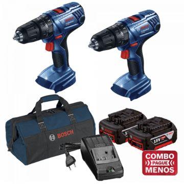 Combo 2 Furadeiras De Impacto + Kit Baterias + Bolsa - Bosch