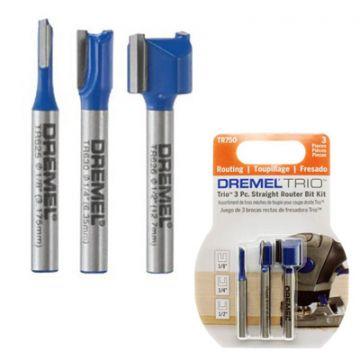 Kit de Fresas Retas com 3 unidades Dremel TR750