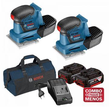 Combo 2 Lixadeiras De Palma + Kit Baterias + Bolsa - Bosch