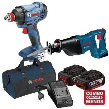 Combo Chave De Impacto + Serra Sabre + Kit Baterias + Bolsa - Bosch (Default)