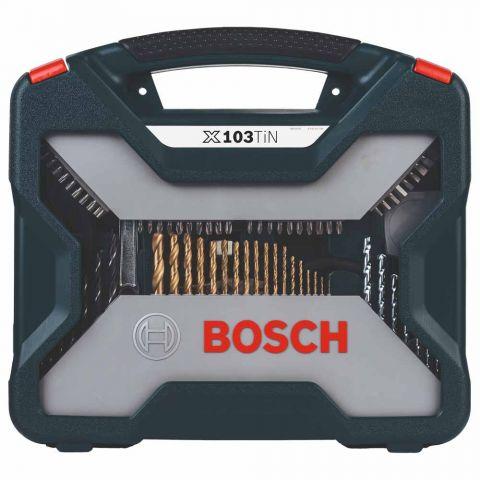 Kit de Pontas e Brocas em Titânio X-Line com 103 Peças - Bosch
