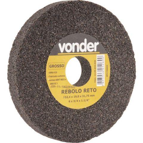 """Rebolo Reto Grosso 6"""" x 3/4"""" Vonder"""