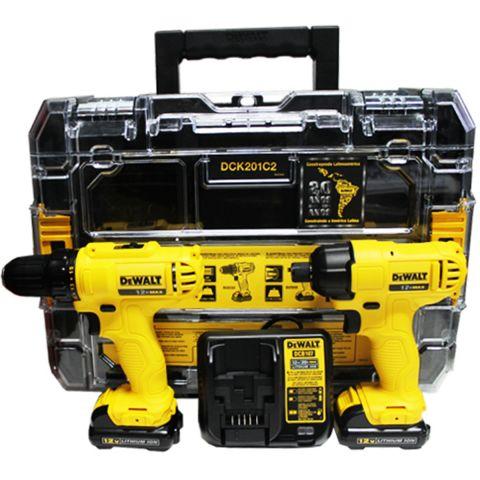 Combo Parafusadeira Furadeira à Bateria DCD700 + DCF805 - Dewalt