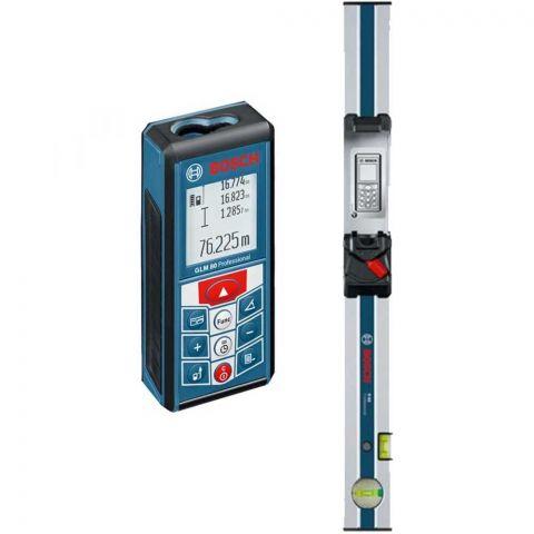 Medidor Laser de Distâncias GLM 80 + Régua de Inclinação R60 Bosch