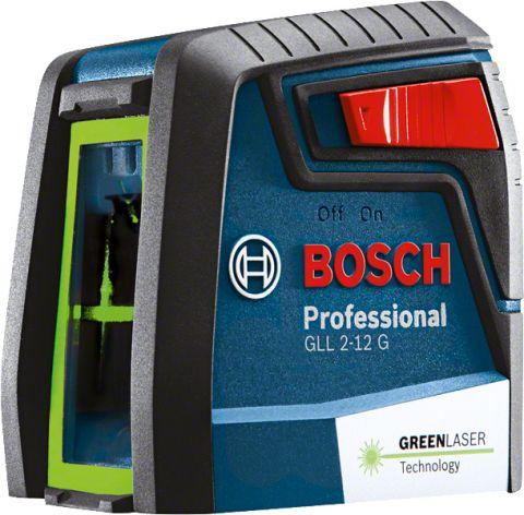 Nível a Laser de Linhas Verdes Cruzadas 12 metros GLL 2-12 G - Bosch