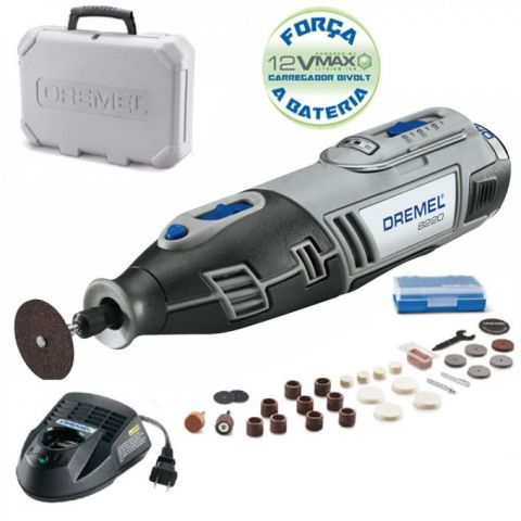 Micro Retifica Dremel a  Bateria 12VLI Bivolt