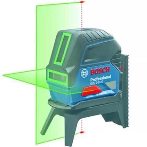 Nível a Laser de linhas verdes 15 metros com pontos GCL 2-15 G com Maleta - Bosch