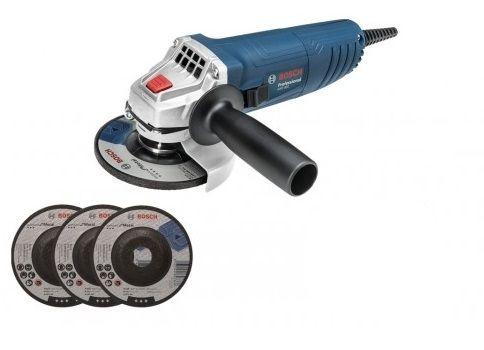 Esmerilhadeira Angular GWS 850 4 1/2 850W Com 3 Discos De Desbaste - Bosch
