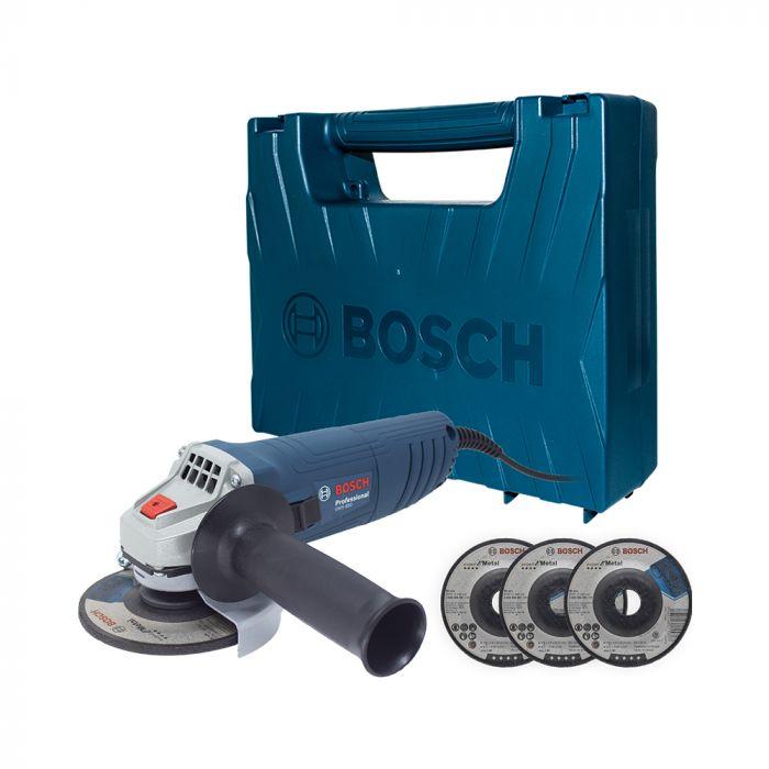 Esmerilhadeira Angular GWS 850 4 1/2 850W Com 3 Discos e Maleta - Bosch