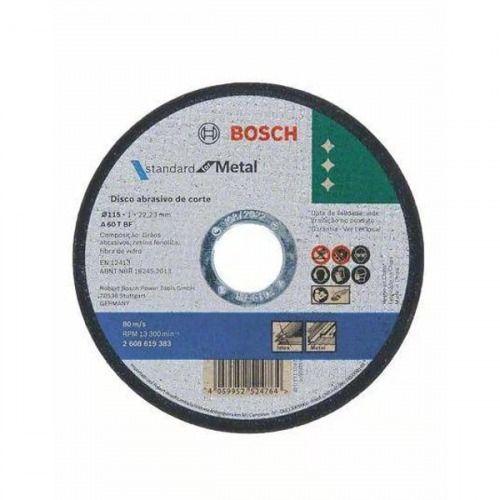 "DISCO DE CORTE METAL/INOX 1,0MM 4 1/2"" STD BOSCH"