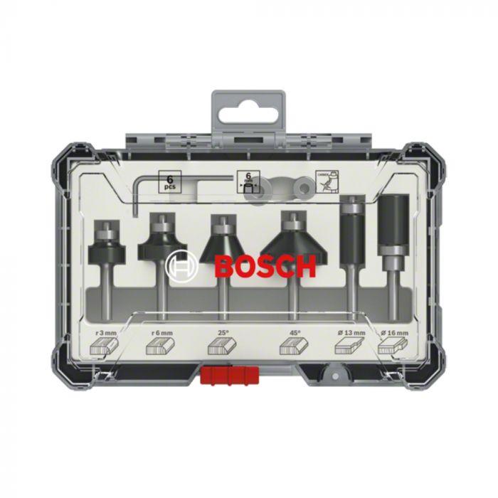 Jogo de Fresas de Aparo e Contorno 6mm Standard com 6 Peças - Bosch