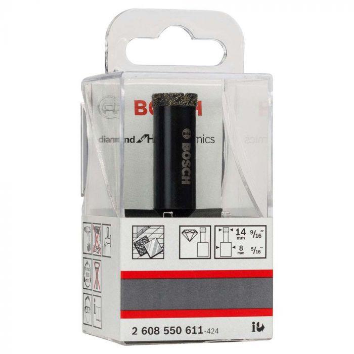 Broca de Diamante para Furar a Úmido 14 x 30 x 65 mm com 1 Unidade- Bosch