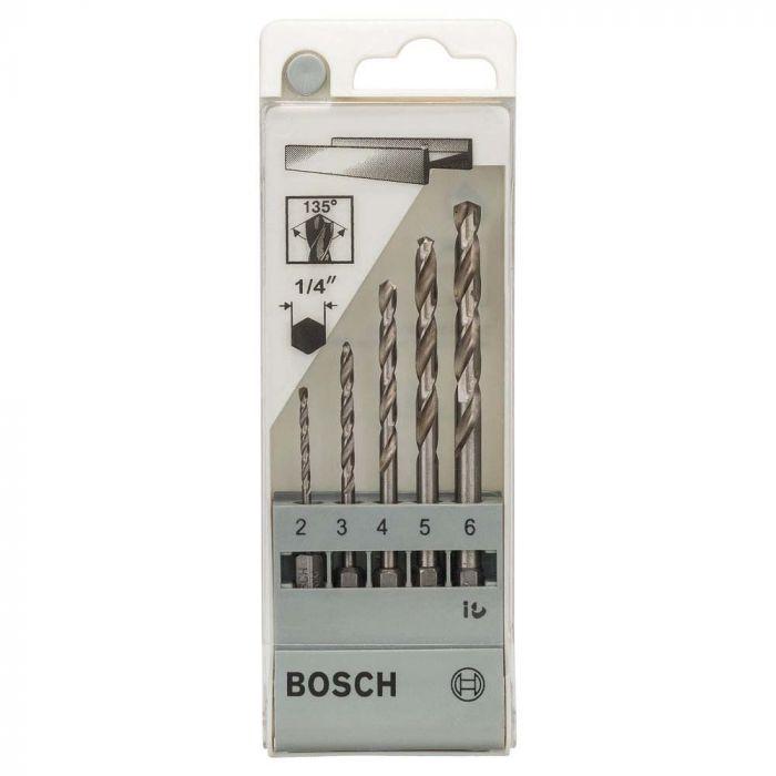 Broca Aço Rápido para Metal HSS-G 2,0-6,0mm com 5 Unidades - Bosch