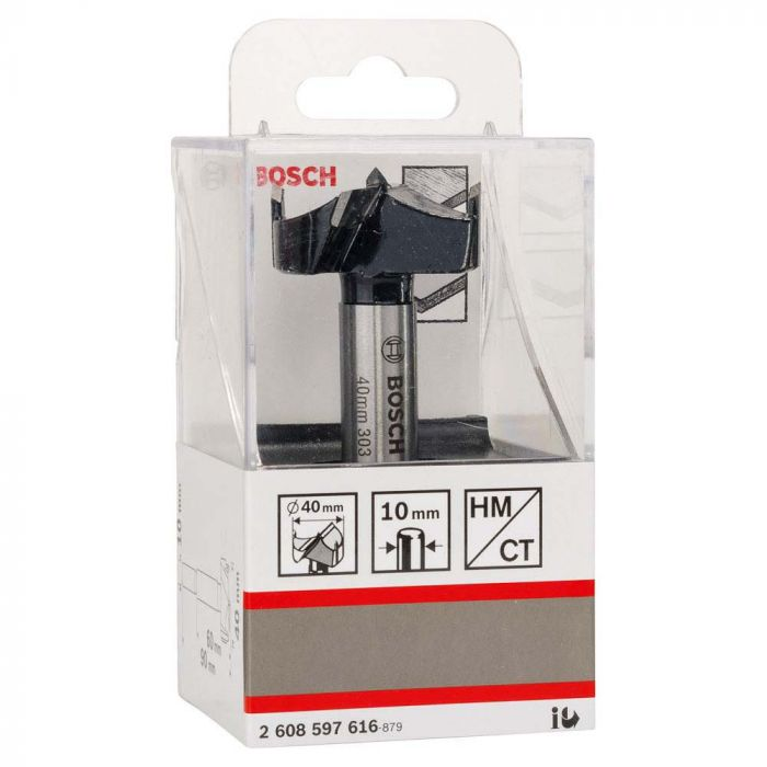 Broca para Madeira com Ponta de Metal Duro para Dobradiça 40,0x90,0x10,0mm - Bosch