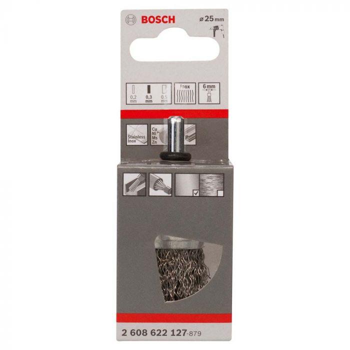 Escova de Aço Pincel para Furadeira 25mm- Bosch
