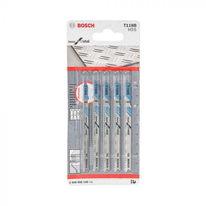 Lâmina de Serra Tico Tico T118B com 5 Unidades - Bosch