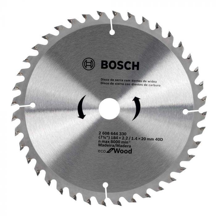 "Disco de Serra Circular Ecoline 184mm 7 1/4"" - Bosch"
