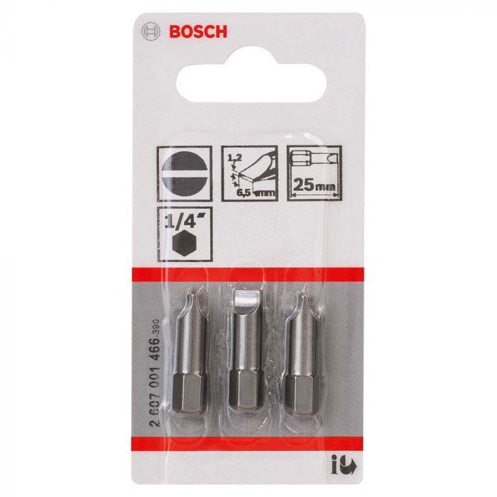 Ponta para Parafusar Fenda  25mm com 3 Unidades- Bosch