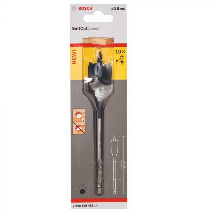 Broca Self Cut Speed para Madeira 26mm - Bosch