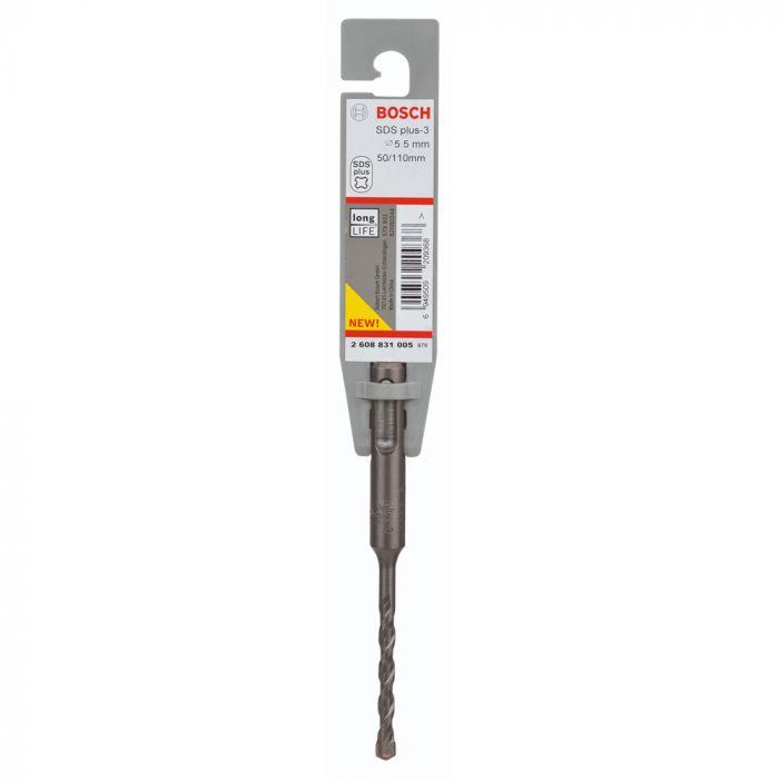 Broca SDS Plus-3 para Concreto 5,5 x 50 x 110 mm - Bosch