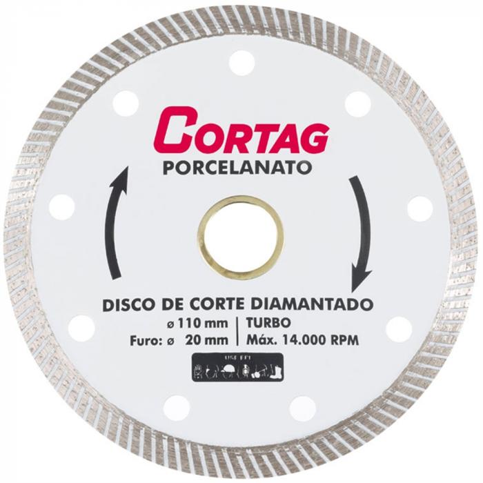 Disco Diamantado para Porcelanato 110MM Cortag
