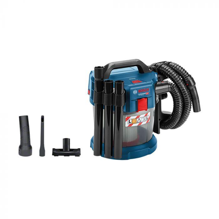 Aspirador de pó Bosch GAS 18V-10 L a bateria 18V com capacidade de 10 L sem carregador e sem bateria