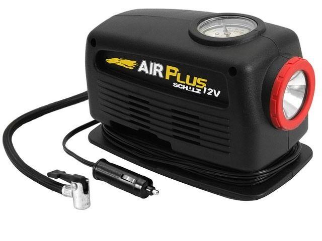 Moto Compressor de Air Plus 127V Portatil 120W C/Lanterna Schulz