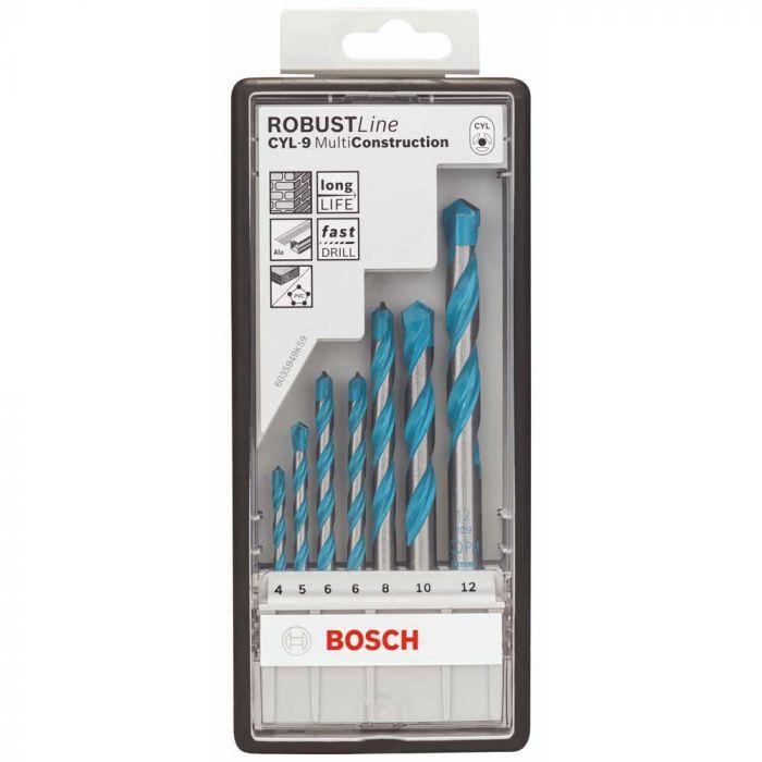 Broca CYL-9 4-5-6-6-8-10-12 mm Jogo com 7 Unidades - Bosch