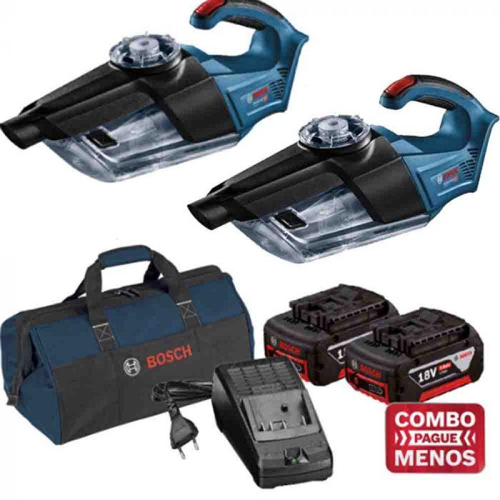 Combo 2 Aspiradores + Kit Baterias + Bolsa - Bosch