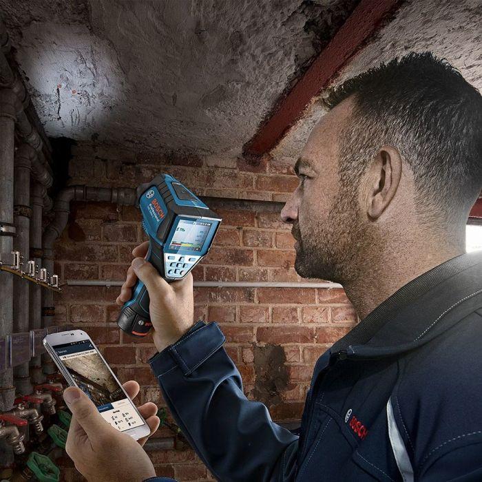 Termômetro Infravermelho de Superfície e Ambiente com Bluetooth GIS 1000 C - Bosch