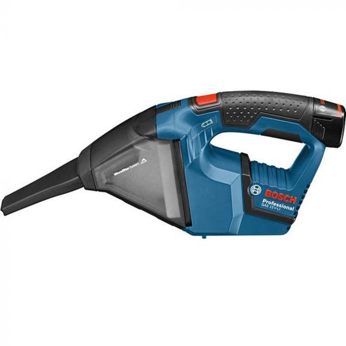 Aspirador de pó Bosch GAS 12V-LI  a bateria 12V com capacidade de 15 L sem carregador e sem bateria