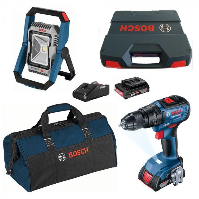 Combo Parafusadeira/Furadeira de Impacto à Bateria 18V GSB 18V-50 Motor Brushless + Lanterna à Bateria 18V GLI 18V-1900 - Bosch