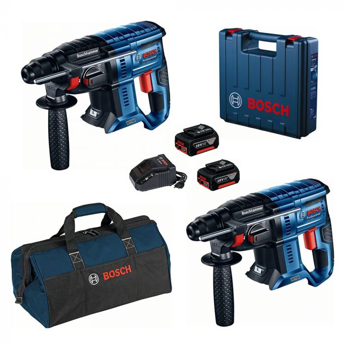 Combo Martelo Perfurador/Rompedor à Bateria 18V GBH 180-LI Motor Brushless + Martelo Perfurador/Rompedor à Bateria 18V GBH 180-LI Motor Brushless - Bosch