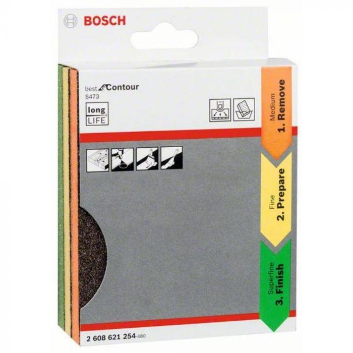 Espuma Abrasiva para Contornos 98x13x120mm 3 Unidades - Bosch