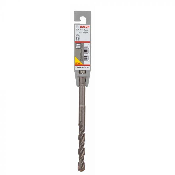 Broca SDS Plus-3 para Concreto 12 x 100 x 160 mm com 1 Unidade- Bosch