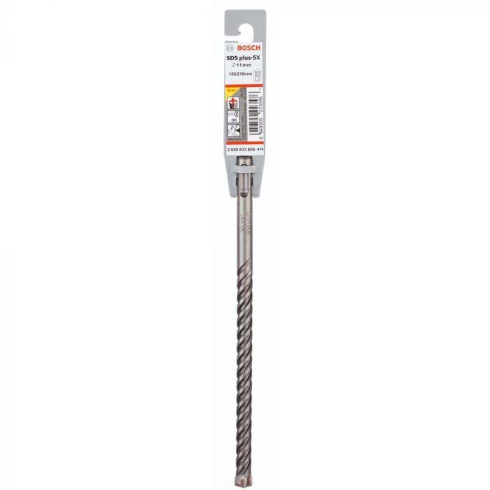Broca SDS Plus-5X 11 x 150 x 210 mm com 1 Unidade- Bosch