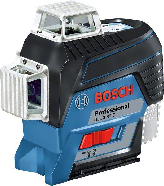 Nível a Laser 120 metros 360º GLL 3-80 C + Tripé BT 150 Professional - Bosch
