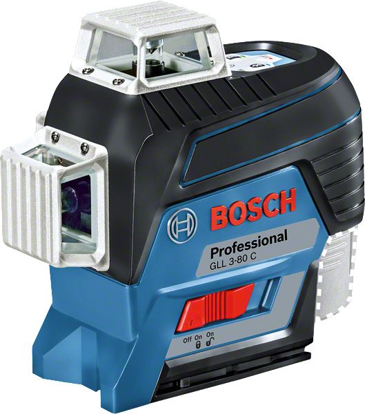 Nível a Laser de linhas 120 metros 360º GLL 3-80 C com Tripé - Bosch
