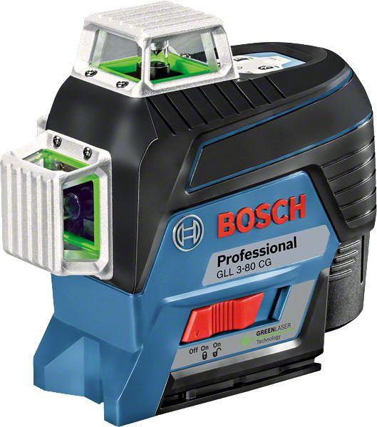 Nível a Laser de linhas verdes 120 metros 360º com Bluetooth GLL 3-80 CG com Maleta - Bosch