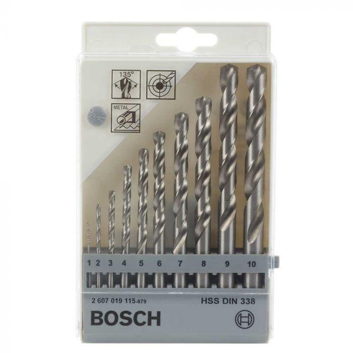 Broca para Metal Aço Rápido HSS-G 1,0-10mm com 10 Unidades- Bosch