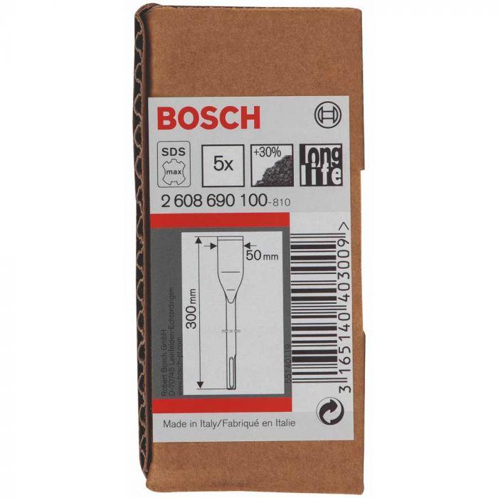 Cinzel SDS-Max 50 x 300 mm com 5 Unidades- Bosch