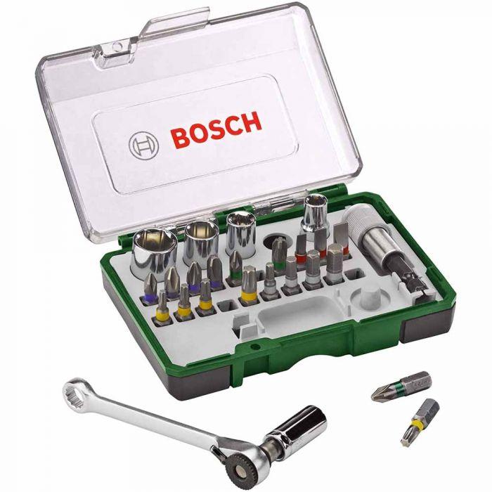 Kit de Bits e Soquetes para Parafusar com 27 Unidades - Bosch