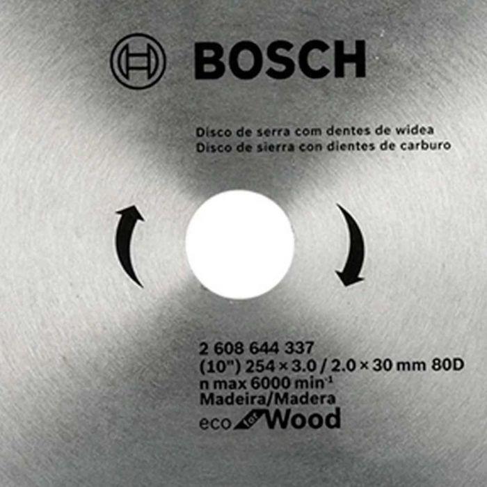 Disco de Serra Circular Ecoline 254mm 80 Dentes- Bosch