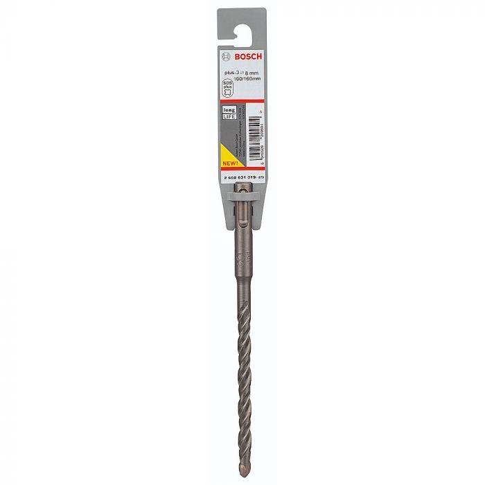 Broca SDS Plus-3 para Concreto 8 x 100 x 160 mm - Bosch