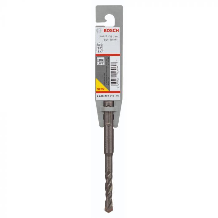 Broca SDS Plus-3 para Concreto 8 x 50 x 110 mm - Bosch